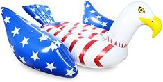 Amazon.com: Mimosa Inc American Flag Bald Eagle Inflatable Premium Quality Giant Size Pool Float: Sports & Outdoors Giant Pool Floats, Usa Gear, Kids Climbing, Bald Eagle, American Flag, Outdoors, Amazon, Sports, Hs Sports