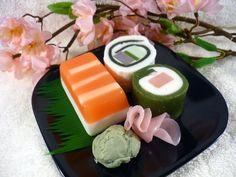 Sushi Soap Sampler Medium Set 1  BunnyBubbles  Fun and funky handmade glycerin novelty soaps
