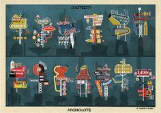 Federico Babinaestá de vuelta, esta vez con una serie de 13 carteles inspirados en Las Vegas, anunciando los concept...