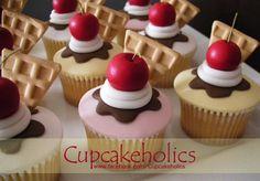 Ice Cream Sundae Cupcakes by Cupcakeholics, via Flickr