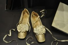 Queen Victoria's dancing shoes! Kensington Palace.