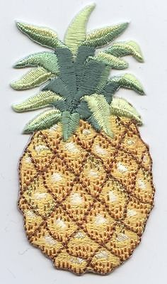 Iron On Embroidered Applique Patch Large Pineapple Fruit Pine Apple 683017
