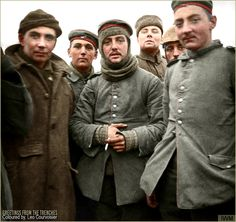 The Christmas Truce December 1914  (Colorised by Leo Courvoisier)