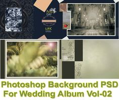Photoshop Background PSD Collection in resolution with fully editable separate layers & completely ready to creating wedding photo album design. Wedding Album Design, Wedding Photo Albums, Wedding Photos, Huawei Wallpapers, Wedding Background, Photoshop Actions, Wedding Photography, Backgrounds, Day