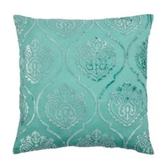 """#zgallerie  $89.95  x3  Andora Pillow 26"""" - Aquamarine from Z Gallerie  -Add a touch of color to the furniture."""