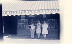 1930's Chicago Heights News Agency 3 Children in Front Photo Negative   eBay