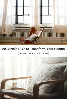 Need curtain inspiration? Look no further. Here are 20 curtain DIYs to transform your rooms, including stellar tutorials on making curtains (rod pocket, pinch pleat, tab top, grommet, and outdoor curtains) and customizing curtains (painting, dying, lining, and hemming)!