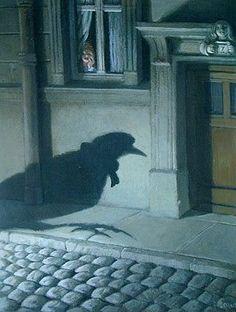 Michael Sowa *Die Rückkehr der Zugvögel* Michael Sowa, Art And Illustration, Creepy, Whimsical Art, Surreal Art, Les Oeuvres, Illustrators, Book Art, Fairy Tales