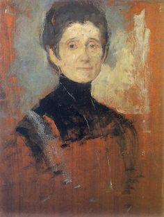 Olga Boznańska / Autoportret / Self-portrait / ???? /  Galeria Obrazów Lwów