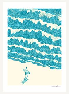 To the sea - Art print - ilovedoodle - The visual art of Lim Heng Swee
