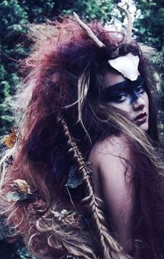 Where the Wild Things Are mixed with a female Lost Boy slash Princess Mononoke? Very interesting! Drawing Down The Moon, Foto Fantasy, Foto Art, Warrior Princess, Tribal Fusion, Larp, Faeries, Native American Indians, Character Inspiration