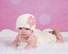 Baby Hat Preemie or Newborn Baby Girl Crochet by TwoSeasideBabes, $17.00
