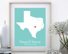 Where we met map personalized anniversary gift for travel couples