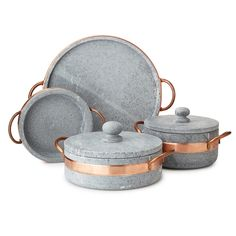 Go from oven to table in Old World style with this soapstone serve and bakeware…