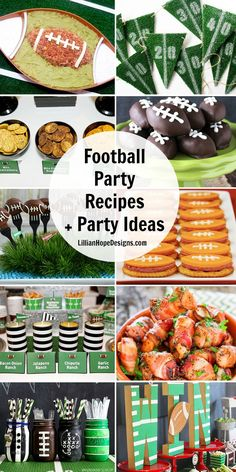 Football party recipes and party ideas!!! Great Football party entertaining ideas.