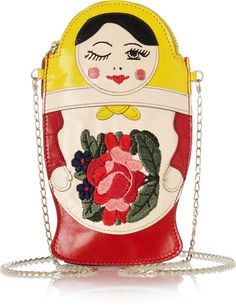 Love this: Baboushka Embroidered Leather Clutch @Lyst