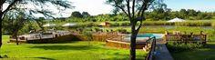 Sabie River Bush Lodge deck with Swimming Pool.