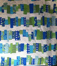 """I love this quilt design by Kate Conklin.    It's called """"Off the Rails""""."""