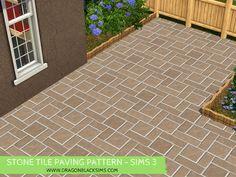 Stone Tile Paving Pattern - Sims 3 Patterns - Dragon Black Sims