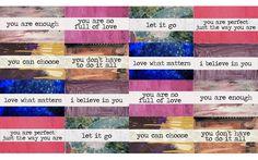 YOU are enough! Self love free printable :)