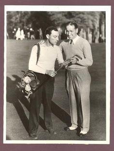 Buster with golfer Gene Sarazen