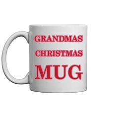 Lovely as a gift for grandma Christmas Mugs, Best Christmas Gifts, Holiday Fun, Holiday Gifts, Christmas Holidays, Festive, Holiday Boutique, Customized Girl, Personalized Christmas Gifts