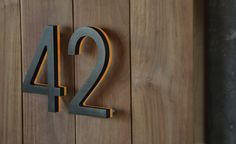 Luxello Modern Bronze House Numbers Illuminated : surrounding.com