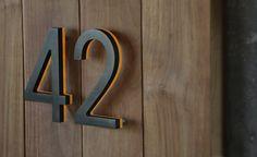Luxello Modern Bronze House Numbers Illuminated : surrounding.com
