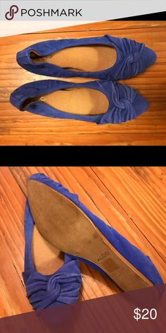 Shoes Aldo blue suede flats - worn once (sole on the shoe is in great condition) Aldo Shoes Flats & Loafers
