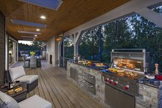 Barbecue with friends and family in this outdoor gathering space at Pipers Glen in Bothell, WA. : Barbecue with friends and family in this outdoor gathering space at Pipers Glen in Bothell, WA. Patio Kitchen, Outdoor Kitchen Design, Patio Design, Kitchen Decor, Kitchen Ideas, Outdoor Rooms, Outdoor Living, Outdoor Kitchens, Outdoor Patios