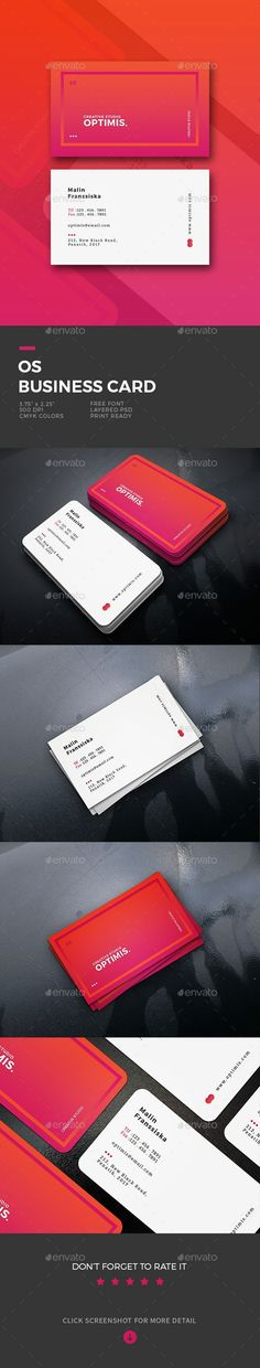 OS Business Card - #Business #Cards Print #Templates Download here: https://graphicriver.net/item/os-business-card/19625101?ref=alena994