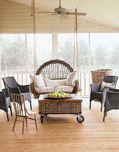 Beautiful Porch #porch, #swing