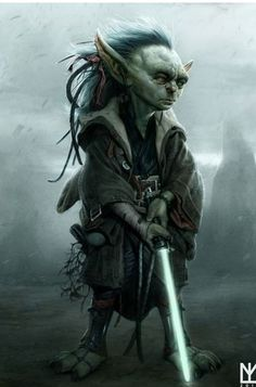 Star wars , The young Yoda.