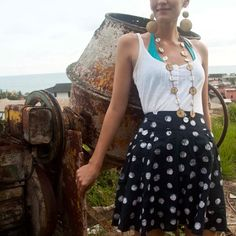Look like a lady Jimi Hendrix would have written about in this flirty summer skirt.