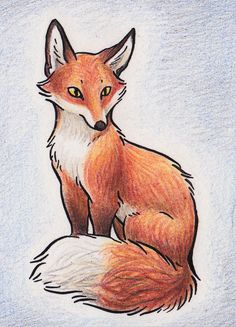 Original ACEO Red Fox