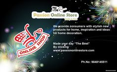 "Well-Come to P@$$ion Online $tore........... Made Your d@y ""The Best"" by clicking www.passiononlinestore.com Ph.No:9849145511"