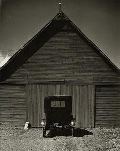 Ford in Front of Barn, Nebraska, 1947 Wright Morris