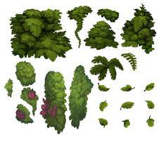 - Concept Scenery and Elements, Joao Henrique… Fantasy Landscape, Landscape Art, Vegetal Concept, Draw Tips, 2d Game Art, Game Textures, 8bit Art, Hand Painted Textures, Fast Growing Trees