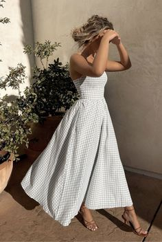 Spring Look, Spring Summer Fashion, Spring Outfits, Look Man, Gingham Dress, Boho, Dress Me Up, Pretty Dresses, Dress To Impress