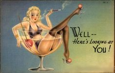 Today's Vintage Pin Up: 1940's Mutascope Card | The Muscleheaded Blog