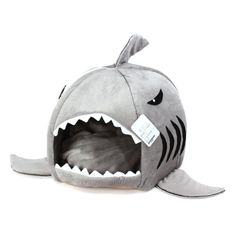 Grey Shark Bed for Small Cat Dog Cave Bed Removable Cushion,waterproof Bottom Most Lovely Pet House Gift for Pet,Small -- Awesome products selected by Anna Churchill