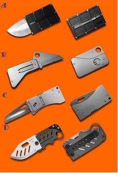Складные ножи - кредитные карточки