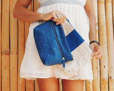 Clutch Petite & Clutch Mignon #cute #viveninette #leatherbags #blu #bali #happy