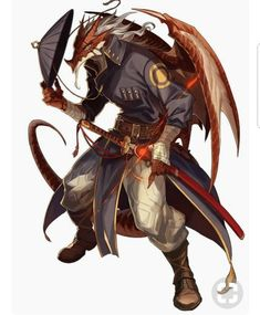 Draconian warrior (Not particularly fond of humanoid dragons but this design is really nice! Male Character, Character Portraits, Fantasy Character Design, Character Design Inspiration, Character Concept, Dungeons And Dragons Characters, Dnd Characters, Fantasy Characters, Fantasy Wesen