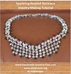 Beaded Necklace Jewelry Making Beading Tutorial T92 by XQdesigns, $4.00