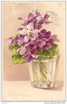 Catherine Klein - Pansies in Water/ Watercolor Catherine Klein, Arte Floral, May Flowers, Beautiful Flowers, Purple Flowers, Watercolor Flowers, Watercolor Art, Sweet Violets, China Painting