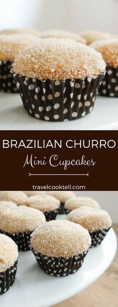 Brazilian Churro Mini Cupcakes | Travel Cook Tell