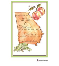 Georgia Peach Save the Date! Come see for yourself! http://tastebudsontheavenue.com/