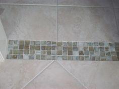 Buddy Bath Doorway glass tile inset