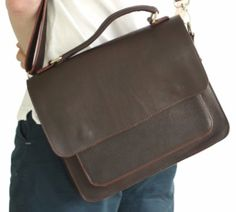 Win This Leather Laptop Messenger Bag